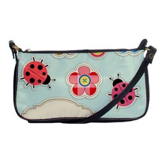 Buttons & Ladybugs Cute Shoulder Clutch Bags by Simbadda