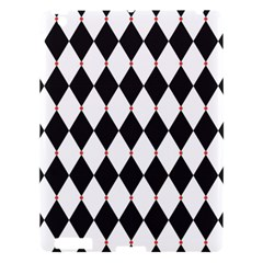 Plaid Triangle Line Wave Chevron Black White Red Beauty Argyle Apple Ipad 3/4 Hardshell Case by Alisyart