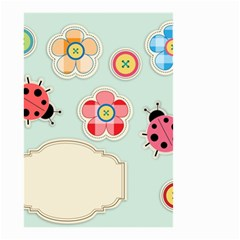 Buttons & Ladybugs Cute Small Garden Flag (two Sides) by Simbadda