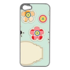 Buttons & Ladybugs Cute Apple Iphone 5 Case (silver) by Simbadda
