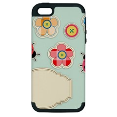 Buttons & Ladybugs Cute Apple Iphone 5 Hardshell Case (pc+silicone) by Simbadda