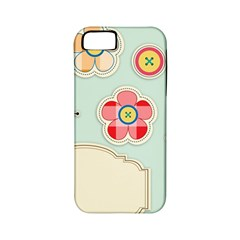 Buttons & Ladybugs Cute Apple Iphone 5 Classic Hardshell Case (pc+silicone) by Simbadda