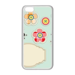 Buttons & Ladybugs Cute Apple Iphone 5c Seamless Case (white) by Simbadda