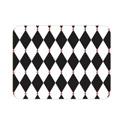 Plaid Triangle Line Wave Chevron Black White Red Beauty Argyle Double Sided Flano Blanket (mini)  by Alisyart