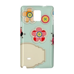 Buttons & Ladybugs Cute Samsung Galaxy Note 4 Hardshell Case by Simbadda