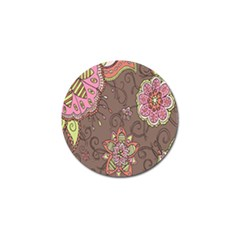 Ice Cream Flower Floral Rose Sunflower Leaf Star Brown Golf Ball Marker (10 Pack) by Alisyart
