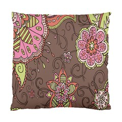 Ice Cream Flower Floral Rose Sunflower Leaf Star Brown Standard Cushion Case (two Sides) by Alisyart
