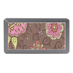 Ice Cream Flower Floral Rose Sunflower Leaf Star Brown Memory Card Reader (mini) by Alisyart