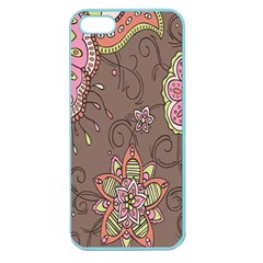 Ice Cream Flower Floral Rose Sunflower Leaf Star Brown Apple Seamless Iphone 5 Case (color) by Alisyart