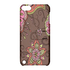 Ice Cream Flower Floral Rose Sunflower Leaf Star Brown Apple Ipod Touch 5 Hardshell Case With Stand by Alisyart