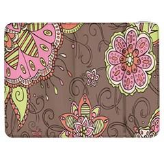 Ice Cream Flower Floral Rose Sunflower Leaf Star Brown Samsung Galaxy Tab 7  P1000 Flip Case by Alisyart