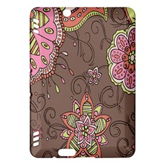 Ice Cream Flower Floral Rose Sunflower Leaf Star Brown Kindle Fire Hdx Hardshell Case by Alisyart