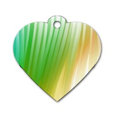 Folded Paint Texture Background Dog Tag Heart (two Sides) by Simbadda