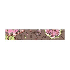 Ice Cream Flower Floral Rose Sunflower Leaf Star Brown Flano Scarf (mini) by Alisyart