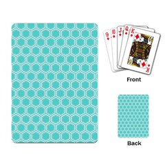 Plaid Circle Blue Wave Playing Card by Alisyart