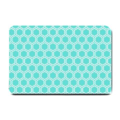 Plaid Circle Blue Wave Small Doormat  by Alisyart