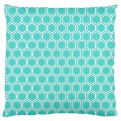 Plaid Circle Blue Wave Large Cushion Case (one Side) by Alisyart