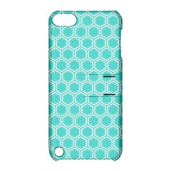 Plaid Circle Blue Wave Apple Ipod Touch 5 Hardshell Case With Stand by Alisyart