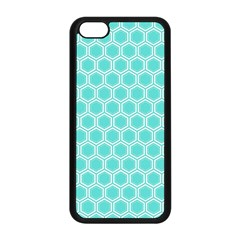 Plaid Circle Blue Wave Apple Iphone 5c Seamless Case (black) by Alisyart
