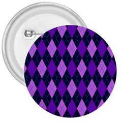Plaid Triangle Line Wave Chevron Blue Purple Pink Beauty Argyle 3  Buttons by Alisyart