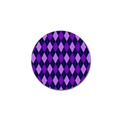 Plaid Triangle Line Wave Chevron Blue Purple Pink Beauty Argyle Golf Ball Marker (10 Pack) by Alisyart