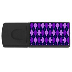 Plaid Triangle Line Wave Chevron Blue Purple Pink Beauty Argyle Usb Flash Drive Rectangular (4 Gb) by Alisyart