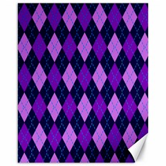 Plaid Triangle Line Wave Chevron Blue Purple Pink Beauty Argyle Canvas 16  X 20   by Alisyart