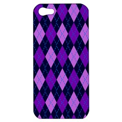 Plaid Triangle Line Wave Chevron Blue Purple Pink Beauty Argyle Apple Iphone 5 Hardshell Case by Alisyart