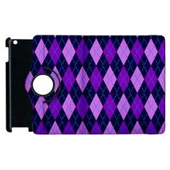 Plaid Triangle Line Wave Chevron Blue Purple Pink Beauty Argyle Apple Ipad 2 Flip 360 Case by Alisyart