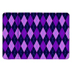 Plaid Triangle Line Wave Chevron Blue Purple Pink Beauty Argyle Samsung Galaxy Tab 8 9  P7300 Flip Case by Alisyart