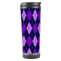 Plaid Triangle Line Wave Chevron Blue Purple Pink Beauty Argyle Travel Tumbler