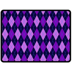 Plaid Triangle Line Wave Chevron Blue Purple Pink Beauty Argyle Double Sided Fleece Blanket (large)  by Alisyart