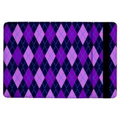 Plaid Triangle Line Wave Chevron Blue Purple Pink Beauty Argyle Ipad Air Flip by Alisyart
