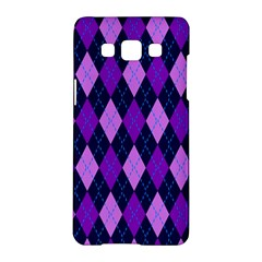 Plaid Triangle Line Wave Chevron Blue Purple Pink Beauty Argyle Samsung Galaxy A5 Hardshell Case  by Alisyart