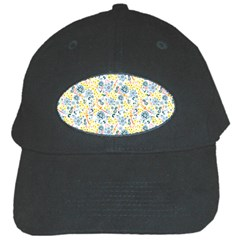 Flower Floral Bird Peacok Sunflower Star Leaf Rose Black Cap by Alisyart