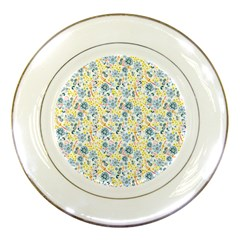 Flower Floral Bird Peacok Sunflower Star Leaf Rose Porcelain Plates by Alisyart