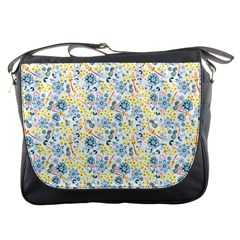 Flower Floral Bird Peacok Sunflower Star Leaf Rose Messenger Bags by Alisyart