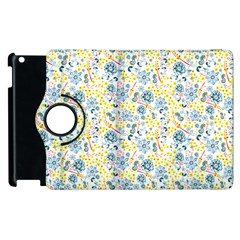 Flower Floral Bird Peacok Sunflower Star Leaf Rose Apple Ipad 3/4 Flip 360 Case by Alisyart
