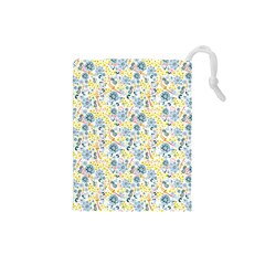 Flower Floral Bird Peacok Sunflower Star Leaf Rose Drawstring Pouches (small)  by Alisyart