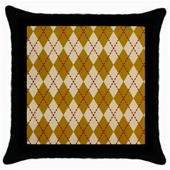Plaid Triangle Line Wave Chevron Orange Red Grey Beauty Argyle Throw Pillow Case (black) by Alisyart