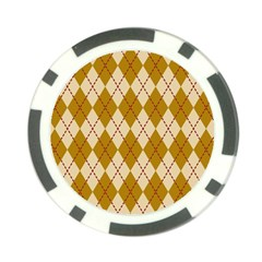 Plaid Triangle Line Wave Chevron Orange Red Grey Beauty Argyle Poker Chip Card Guard by Alisyart