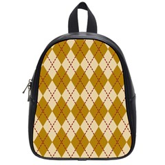 Plaid Triangle Line Wave Chevron Orange Red Grey Beauty Argyle School Bags (small)  by Alisyart