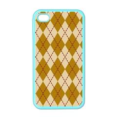 Plaid Triangle Line Wave Chevron Orange Red Grey Beauty Argyle Apple Iphone 4 Case (color) by Alisyart