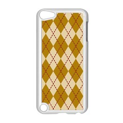 Plaid Triangle Line Wave Chevron Orange Red Grey Beauty Argyle Apple Ipod Touch 5 Case (white) by Alisyart