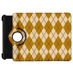 Plaid Triangle Line Wave Chevron Orange Red Grey Beauty Argyle Kindle Fire Hd 7  by Alisyart