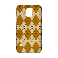 Plaid Triangle Line Wave Chevron Orange Red Grey Beauty Argyle Samsung Galaxy S5 Hardshell Case  by Alisyart