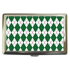 Plaid Triangle Line Wave Chevron Green Red White Beauty Argyle Cigarette Money Cases by Alisyart
