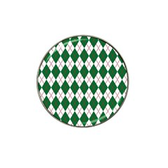 Plaid Triangle Line Wave Chevron Green Red White Beauty Argyle Hat Clip Ball Marker by Alisyart