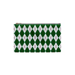 Plaid Triangle Line Wave Chevron Green Red White Beauty Argyle Cosmetic Bag (small)  by Alisyart