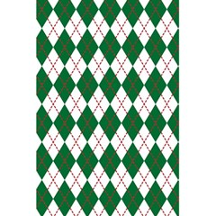 Plaid Triangle Line Wave Chevron Green Red White Beauty Argyle 5 5  X 8 5  Notebooks by Alisyart
